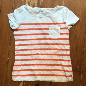 Talbots striped pocket t shirt